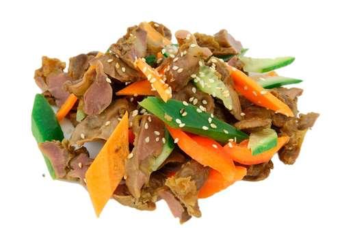 Рецепты салатов из куриных желудочков с