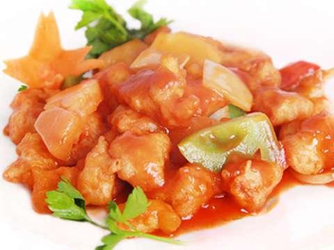 Курица с ананасами в кисло-сладком соусе по китайски рецепт