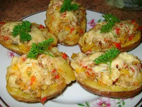 Запеченный картофель в духовке с начинкой рецепты