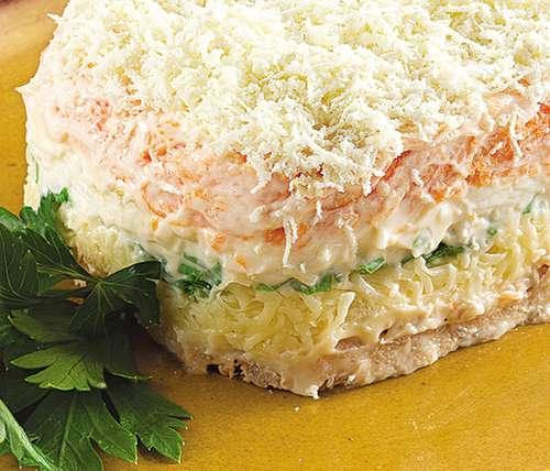 Мимоза с лососем рецепт с фото