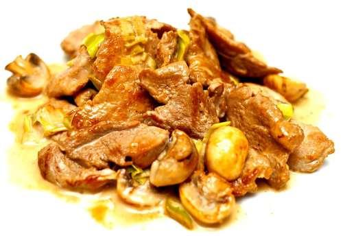 Свинина в сливочном соусе рецепт с фото