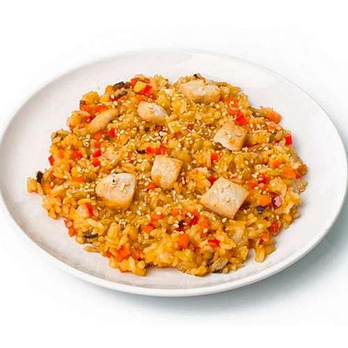Рис по-японски с курицей рецепт