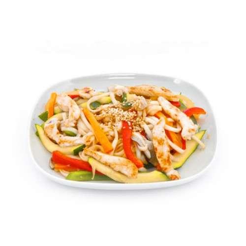 Рисовая лапша с курицей и овощами рецепты