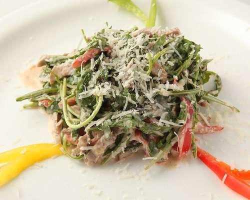 Салат с языком и руколой рецепты