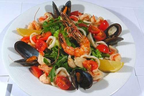 Фото салатов из морепродуктов