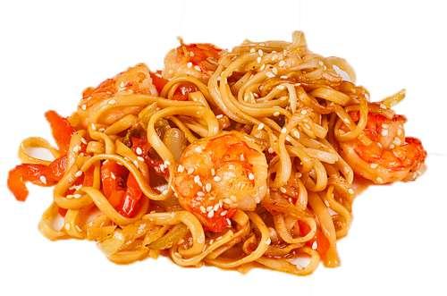 Лапша удон с морепродуктами в соусе терияки рецепт