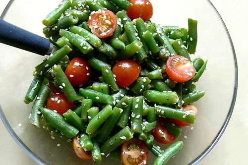Фасоль салаты из помидор