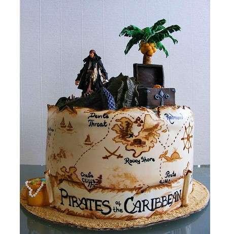 Красивый торт пират фото